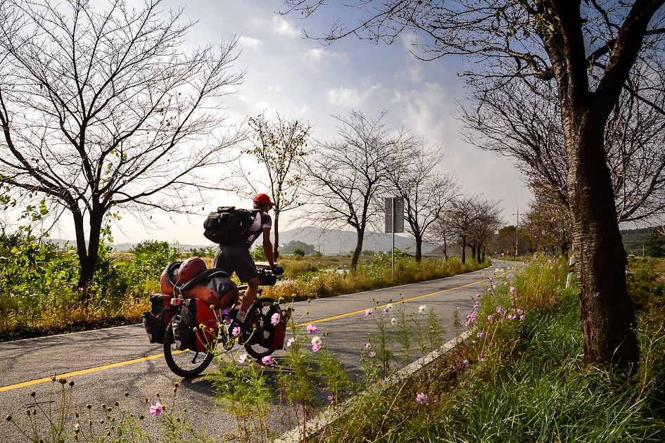 Quiet country roads in the western part of Korea.