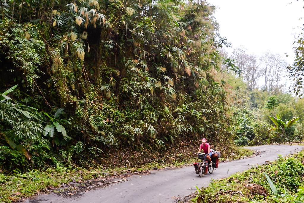 bicycle touring in northeast India