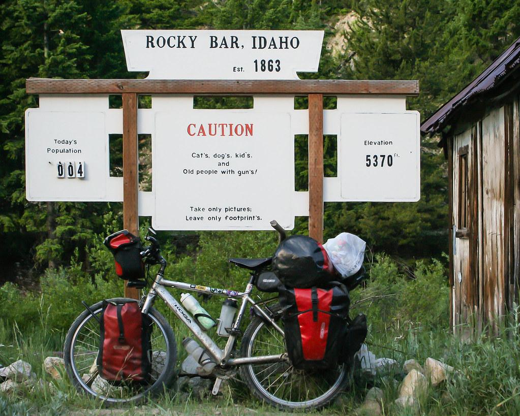 Rocky bar Idaho on Idaho Hot Springs Mountain Biking Route