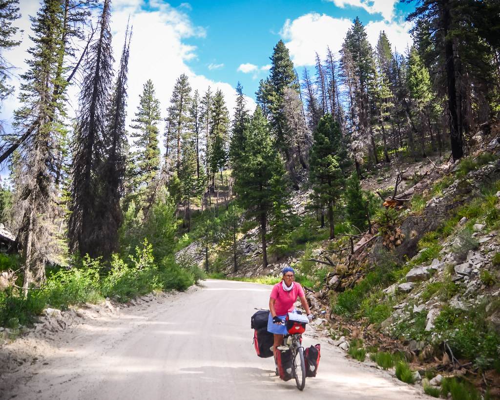 Idaho Hot Springs Mountain Biking Route near Rocky Bar