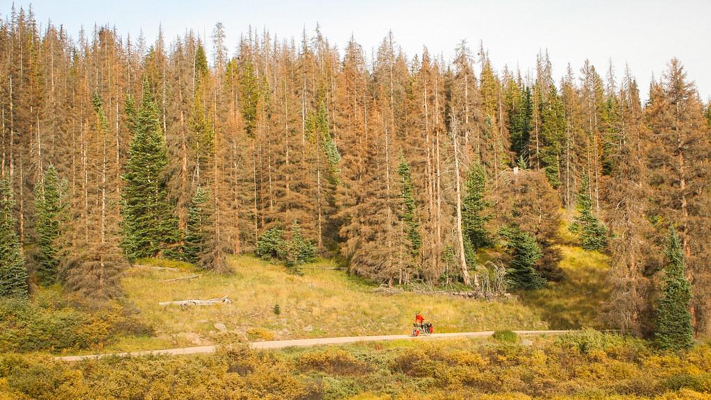 Biking Indiana Pass, Colorado GDMBR