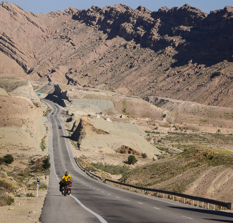 bicycle touring southern Iran
